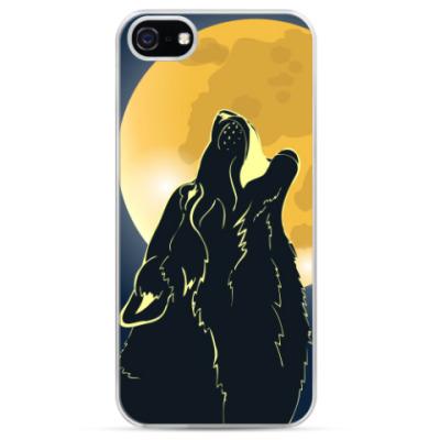 Чехол для iPhone Волк воющий на луну