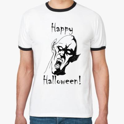 Футболка Ringer-T Happy Halloween!