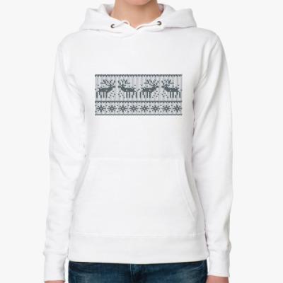 Женская толстовка худи свитер с оленями