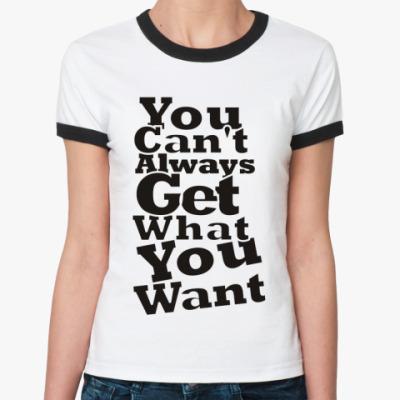 Женская футболка Ringer-T Намек