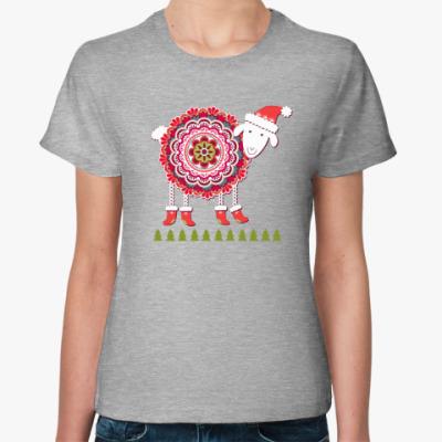 Женская футболка Овечка