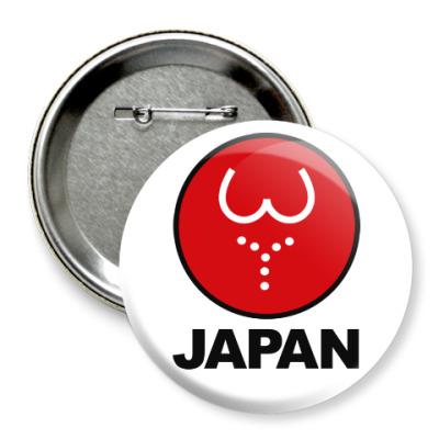 Значок 75мм Японская леди