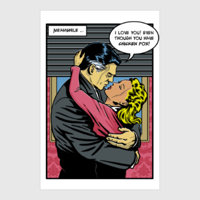 Постер Страница из ретро комикса
