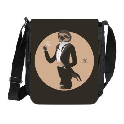 Сумка на плечо (мини-планшет) Animal Fashion: S is for Sloth in Smoking