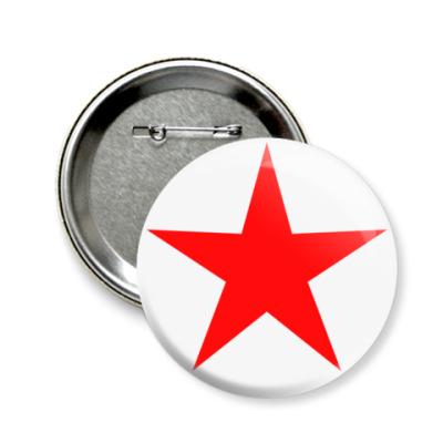 Значок 58мм Red Star  58 мм