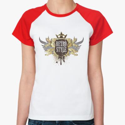 Женская футболка реглан Retro Style