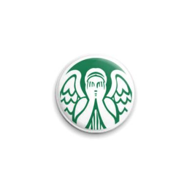 Значок 25мм Doctor Who Доктор Кто Don't Blink Starbucks