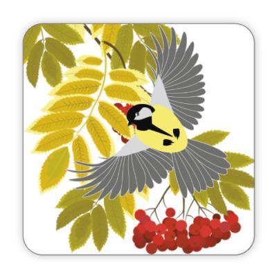 Костер (подставка под кружку) Рябиновая осень