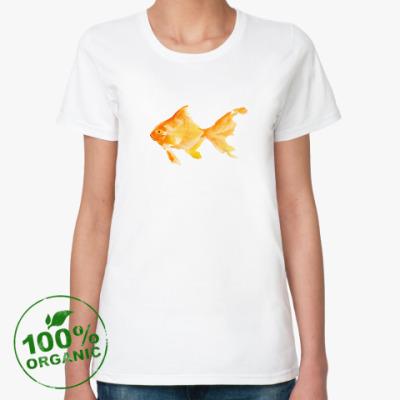 Женская футболка из органик-хлопка Рыбка-золотая
