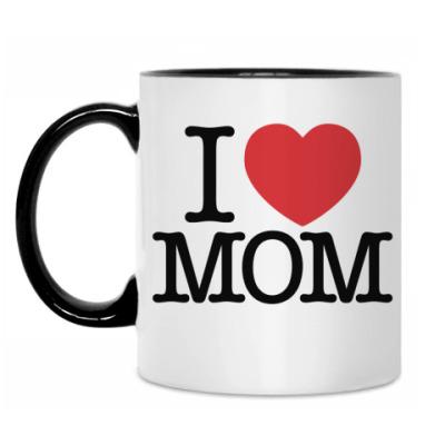 Кружка I love MOM!