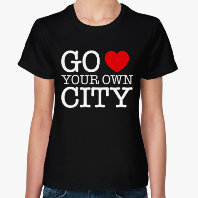 Женская футболка Love your own city