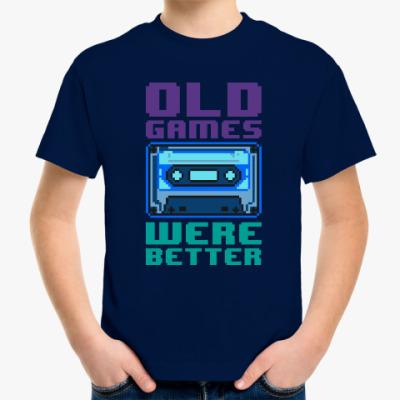Детская футболка Oldschool games were better