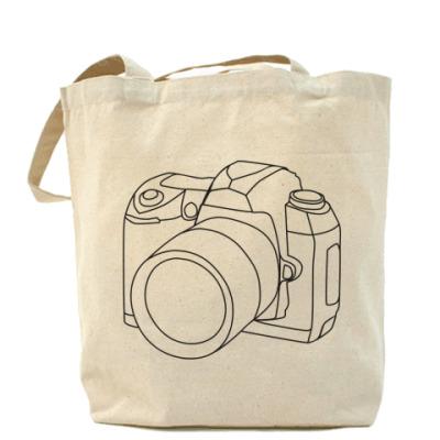 Сумка Холщовая сумка Фотоаппарат