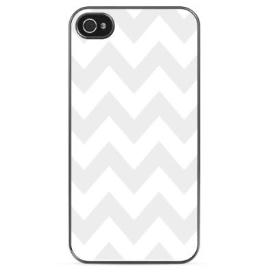 Чехол для iPhone Светло-серый зигзаг