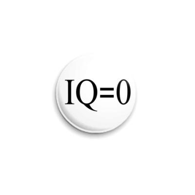 Значок 25мм  IQ