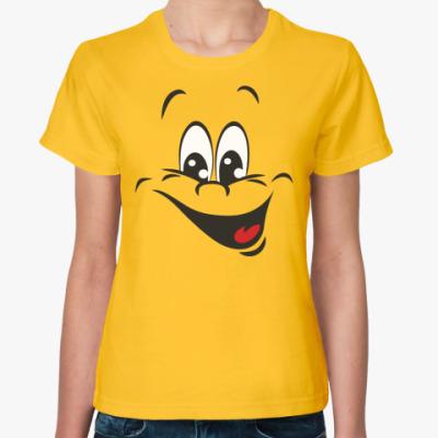 Женская футболка Счастливый смайл