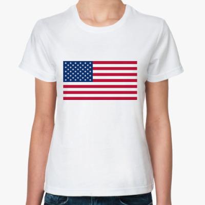 Классическая футболка  Флаг США