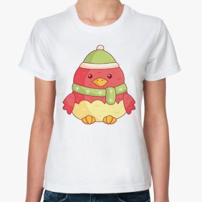 Классическая футболка Птичка