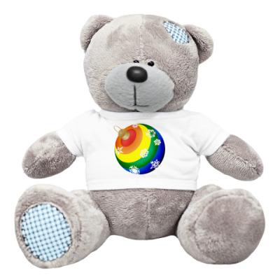 Плюшевый мишка Тедди Новогодний шар