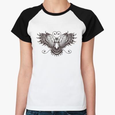 Женская футболка реглан пернатый друг