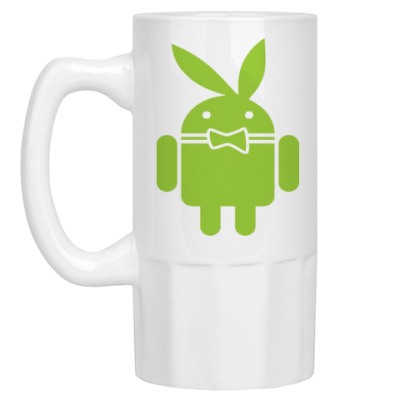 Пивная кружка Андроид плейбой