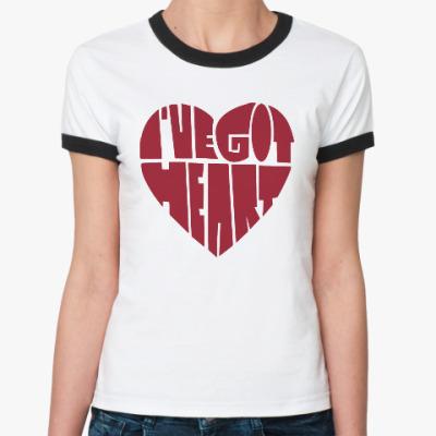 Женская футболка Ringer-T У меня есть сердце