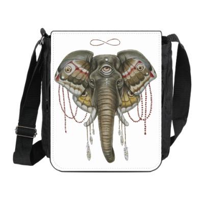 Сумка на плечо (мини-планшет) Индийский слон
