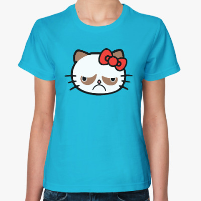Женская футболка Hello Grumpy Cat
