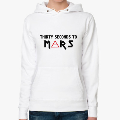 Женская толстовка худи Thirty seconds to mars
