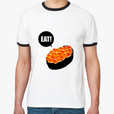 Футболка Ringer-T Eat Sushi