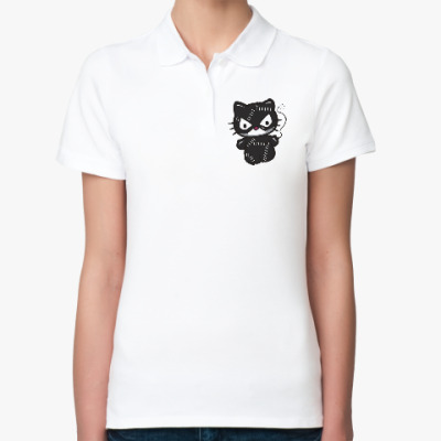 Женская рубашка поло Китти Женщина-кошка