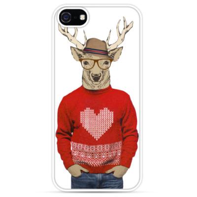 Чехол для iPhone Олень хипстер Влюбленный Валентин