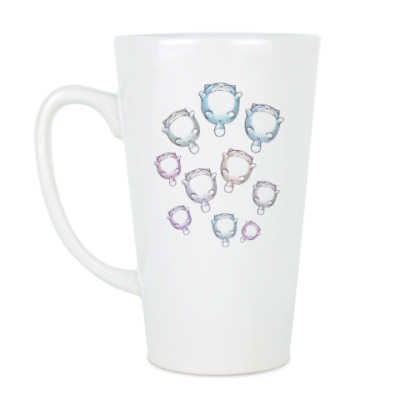 Чашка Латте Круглые котики
