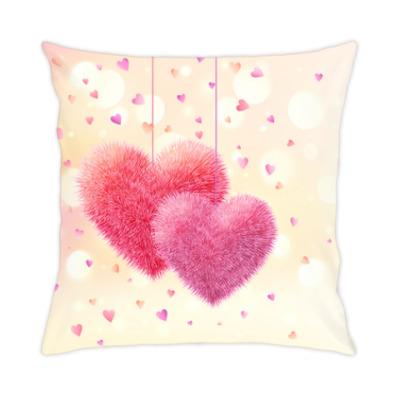 Подушка Влюбленные сердца