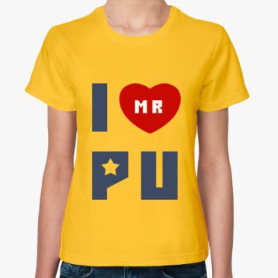 Женская футболка Путин Родина Россия