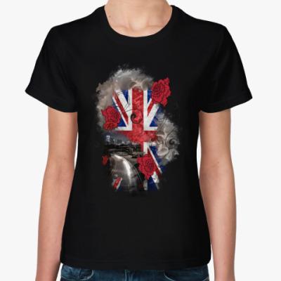 Женская футболка Дорога в Англию