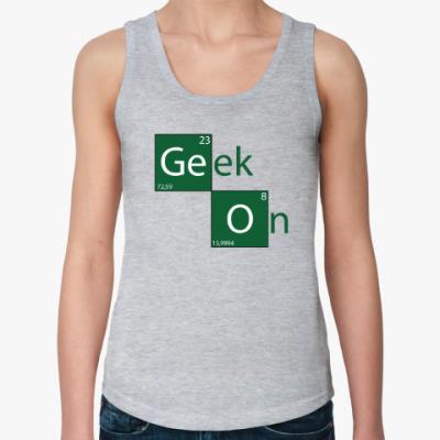 Женская майка Geek On