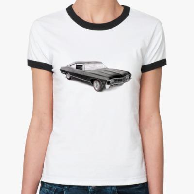 Женская футболка Ringer-T Impala  Ж(бел/чёрн)