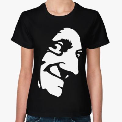 Женская футболка Загадочное лицо