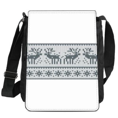 Сумка-планшет свитер с оленями