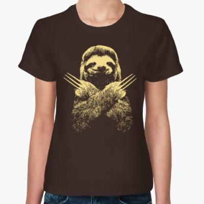 Женская футболка Ленивец - Росомаха
