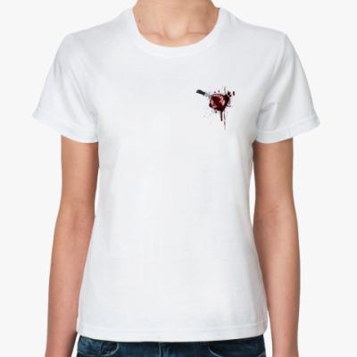 Классическая футболка Сердце с ножом