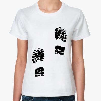 Классическая футболка Следы