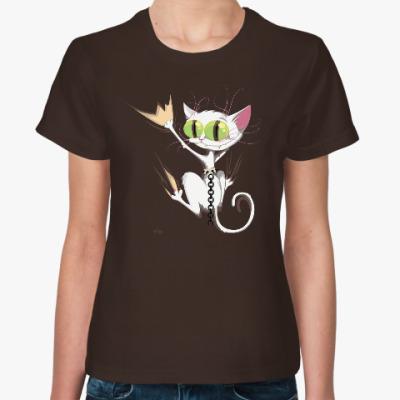 Женская футболка Кот Драник