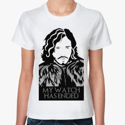 Классическая футболка Игра престолов.Джон Сноу