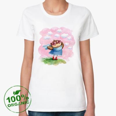 Женская футболка из органик-хлопка В розовых очках