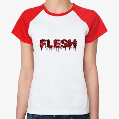 Женская футболка реглан Flesh