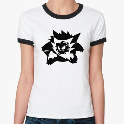 Женская футболка Ringer-T Pokemon Ghosts