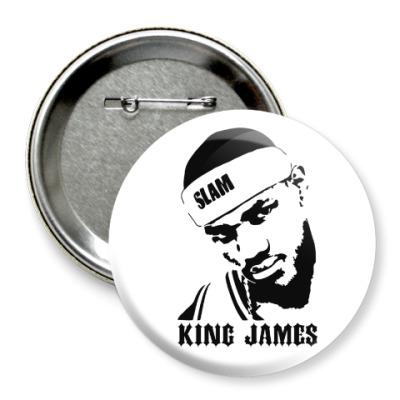 Значок 75мм King James