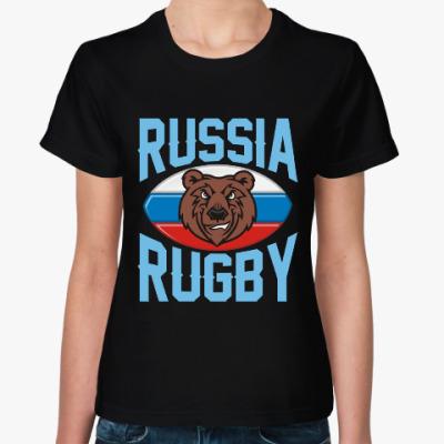 Женская футболка Регби Rugby Мяч для Регби